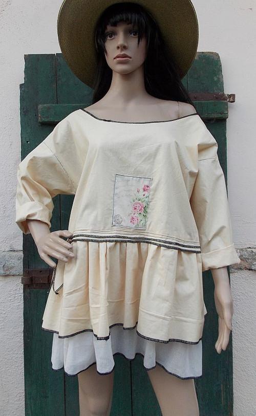 šaty tunika - SLEVA  699.-Kč(pův.1250.-)