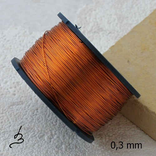 Měděný drát 0,3 mm lakovaný - 80 m