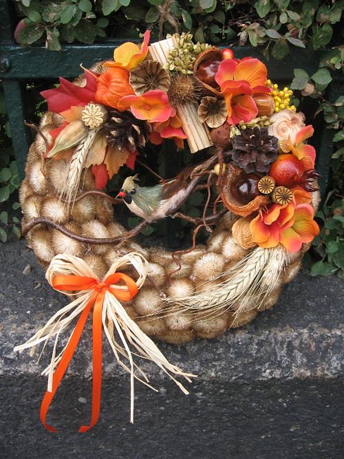 Podzim skrytý v oranžové hortenzii II