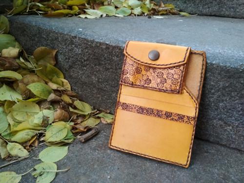 Dámská minimalistická peněženka  - žlutá