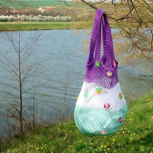 Háčkovaná taška