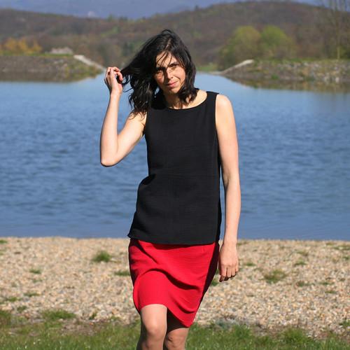 Sukně z mušelínu červená