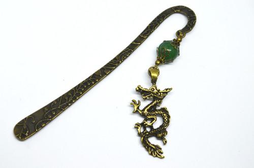 Záložka jadeit a čínský drak