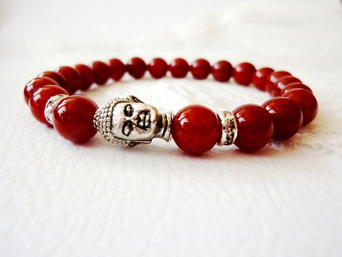 náramek: červený achát  - posilňuje lásku