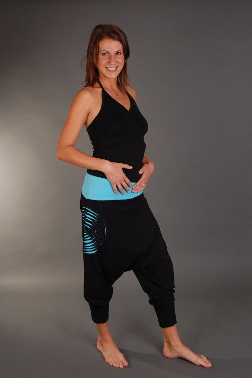 Spirale Turquoises - kalhoty na jógu