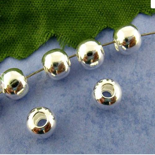 kovový korálek postříbřený 4mm/500ks