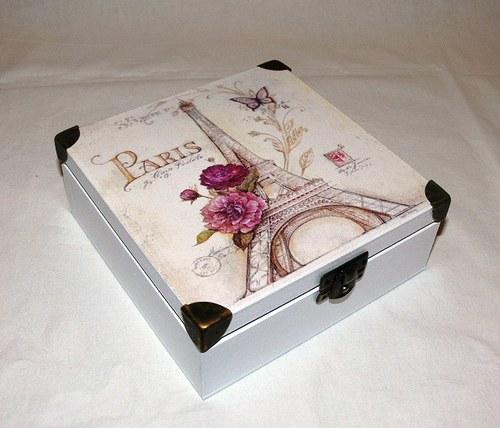 """Krabička \""""Paris\"""" na drobnosti, dopisy,šperky,....."""