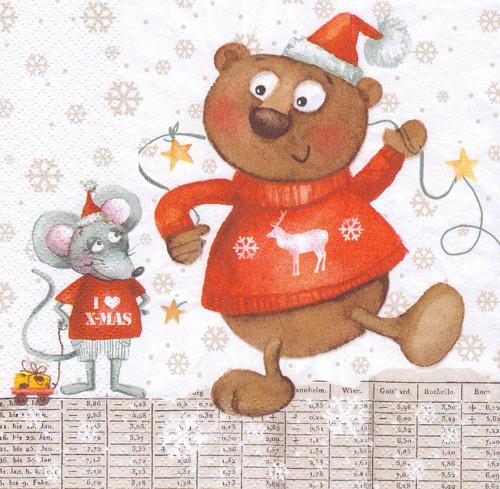 Ubrousek - medvídek s myškou