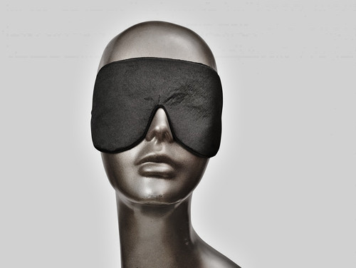 Maska na oči, klapky, škraboška - SATÉN