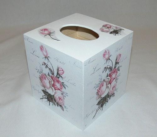 Krabička na kapesníky - růže