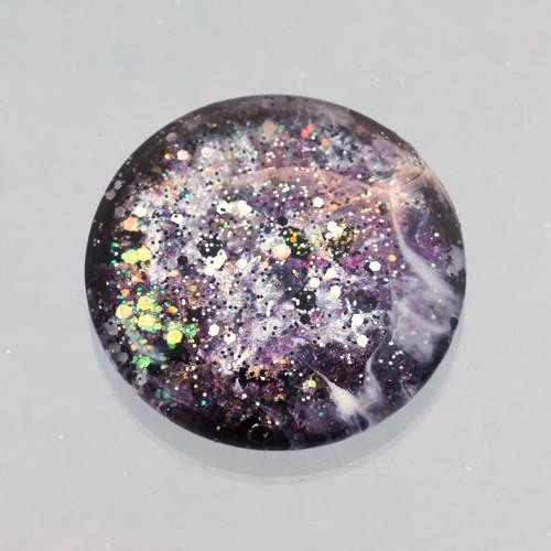 Kabošon: sklo, průměr 3 cm