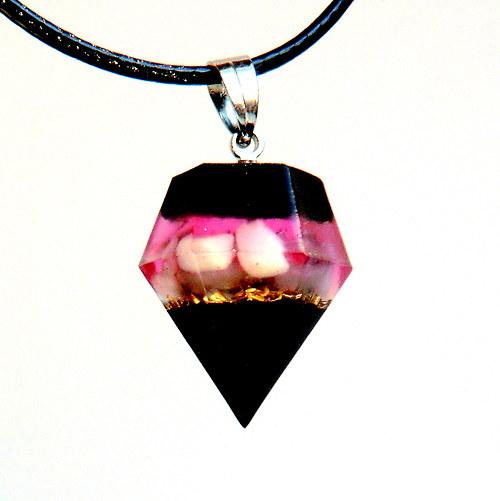 Orgonitový přívěsek  *Diamant* VÁŠEŇ NOCI