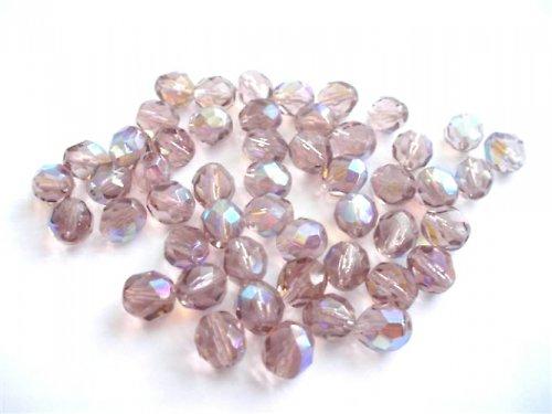 Broušené perle světlý ametyst s AB