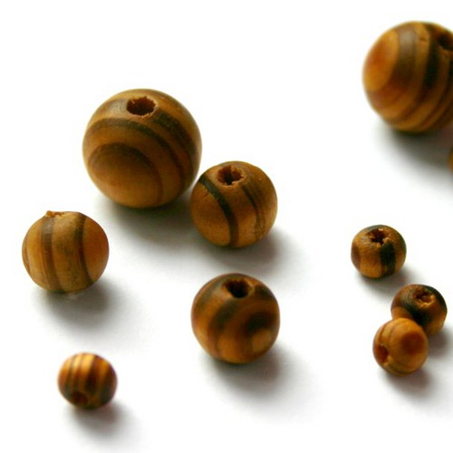 dřevěné korálky 14mm 5ks