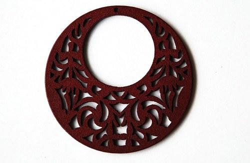 Dřevěné kolečko - červenohnědá