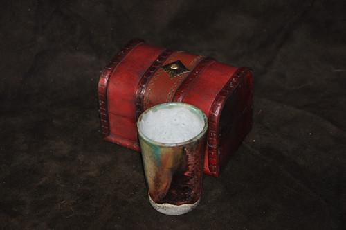 RAKU pohár: Nové Slunce_3 (dárkové balení)