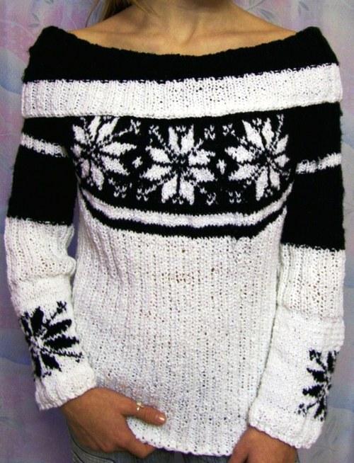 svetr s norským vzorem
