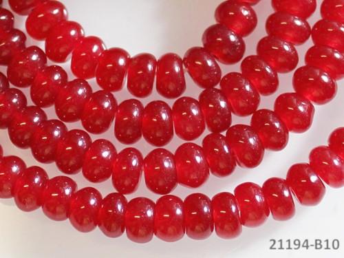 21194-B10 Rondelky JADEIT červený 6mm, bal. 5ks