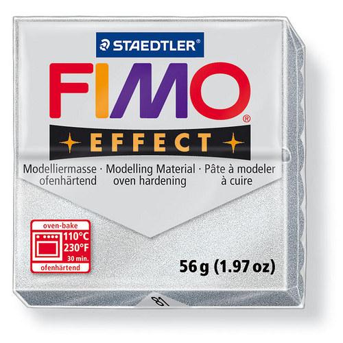 Fimo effect metalická stříbrná 81