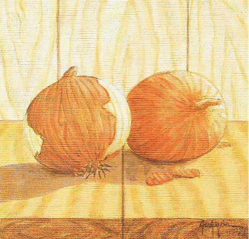 Reprodukce-tisk-Cibule 15x15cm-0201A