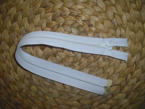 Zip kostěný bílý