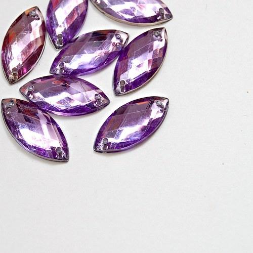 Našívací kamínek Naveta fialová 5ks NK-96
