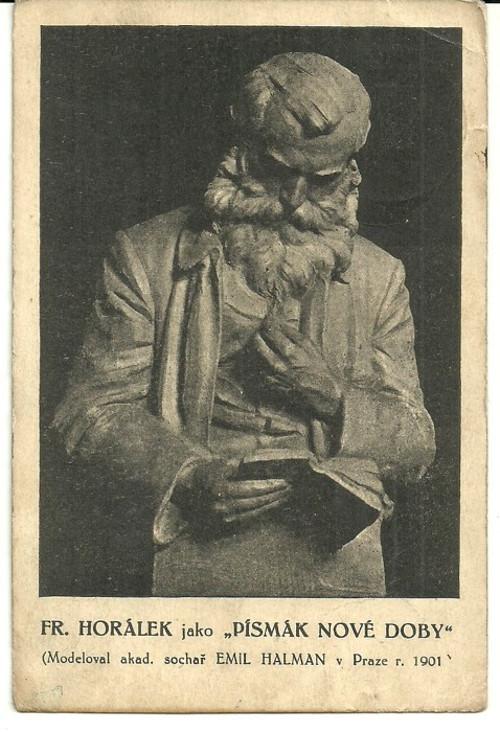 Umělecká pohlednice sochař Emil Halman