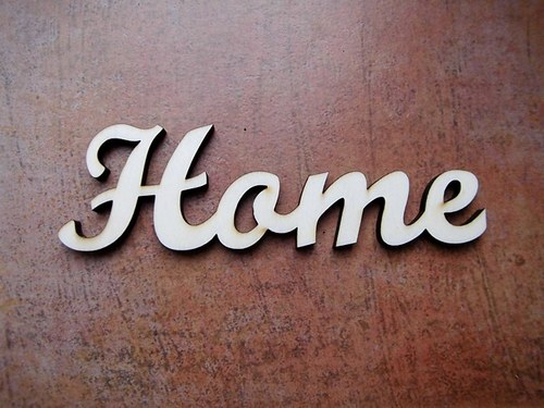 2D výřez nápis Home - v.4x13,2cm