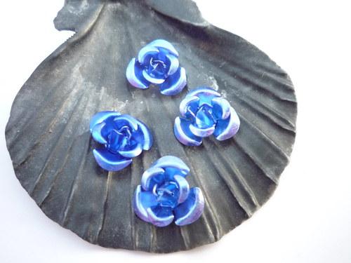 růžičky  10 ks- modré
