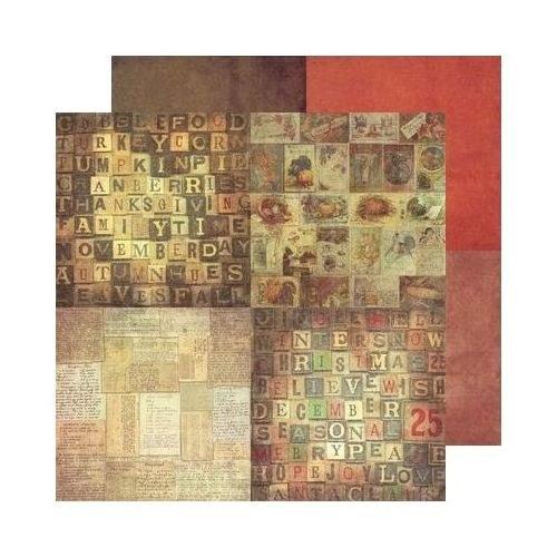 70. Oboustranný papír na scrapbooking 30,5 x 30,5