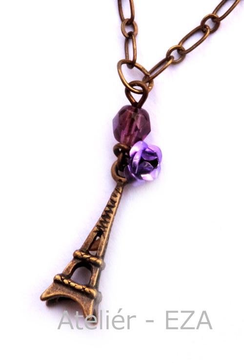 Náhrdelník Paříž do fialova SLEVA ze 169,- na 89,-