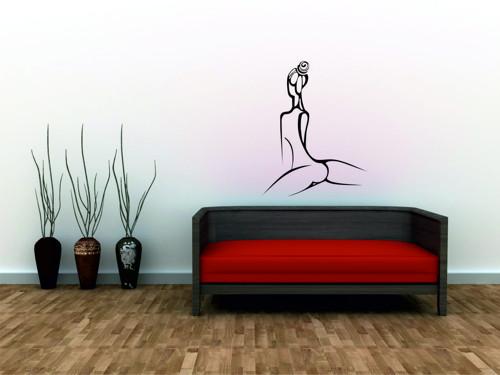 Samolepka na zeď - Lady design 3