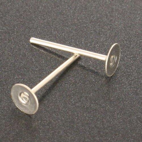 Stříbrné náušnicové puzety 12x4mm 10ks