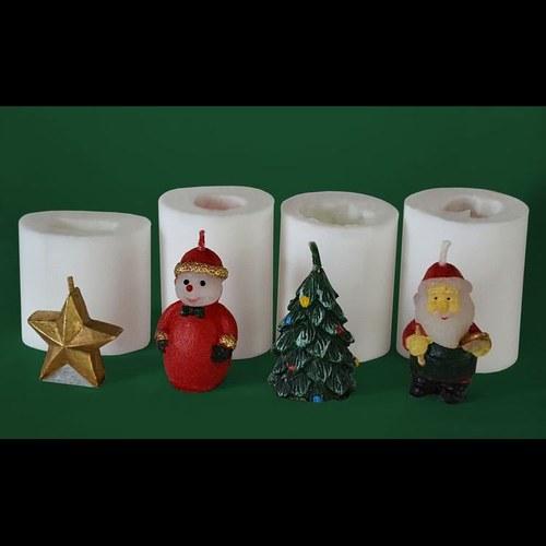 Formy na svíčky Vánoční miniset, výška 3-4cm