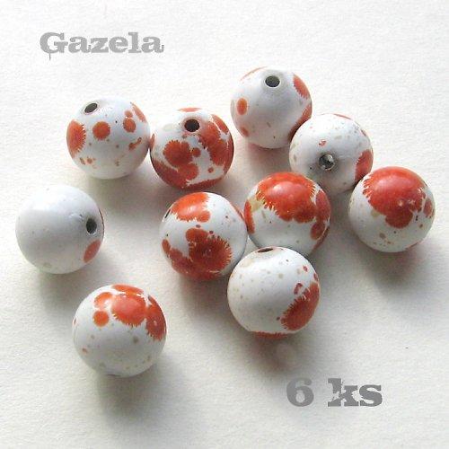 Kulička dalmatin oranžová - 6 ks