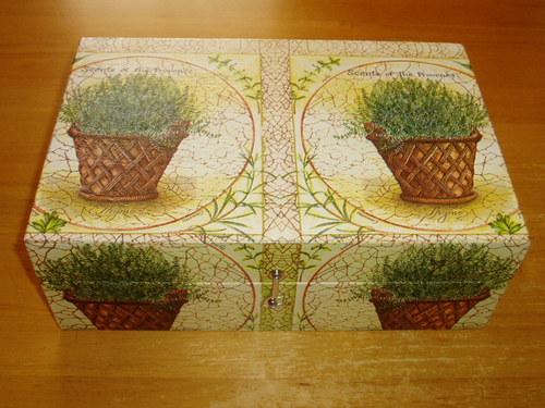 Krabice na čaj - 8 komor - Rozmarýn