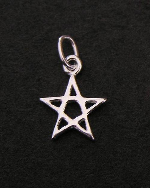 Miniaturní pentagram - stříbrný přívěsek