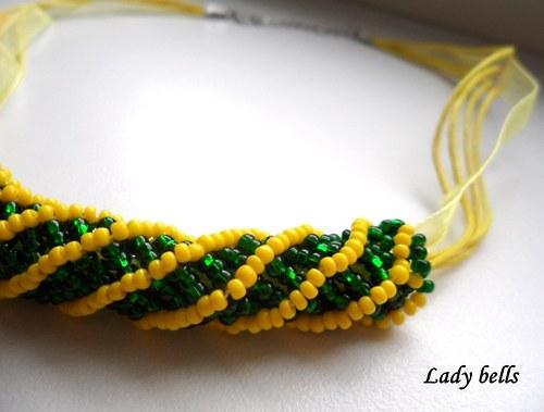 Žluto zelený náhrdelník