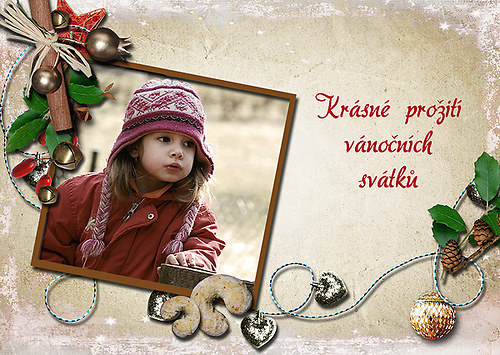 Vánoční přání vanikovorohlíčkové