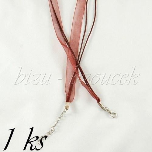 Tmavě hnědý náhrdelník - 1ks