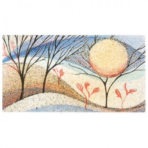 Originál litografie - Červené květy