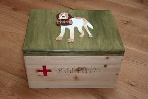 MAXI dřevěná krabice PRVNÍ POMOCI