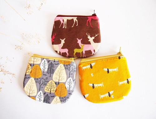 Peňaženka - jelene na hnedej