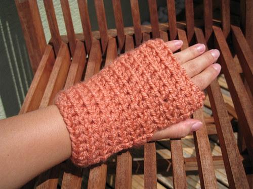 Háčkované návleky na ruky