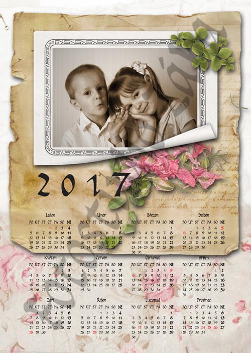 Roční scrapbookový kalendář z vaší fotografie 110
