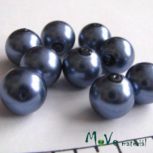 České voskové perle šedomodré 12mm 9ks (cca 20 g)