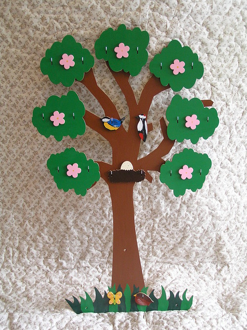 Strom-čtyři roční období: jaro, léto, podzim, zima