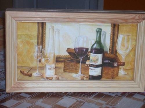Skříňka na klíče obdélníková - víno