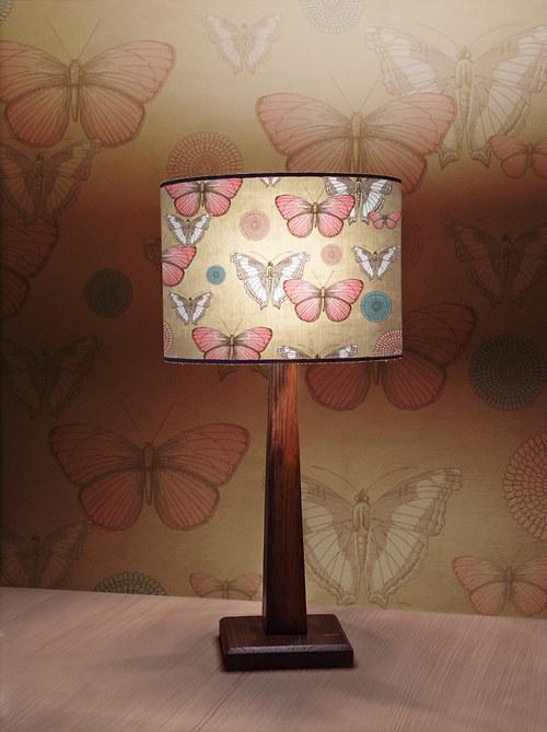 Stínítko na lampu Motýlí - stolní/stropní