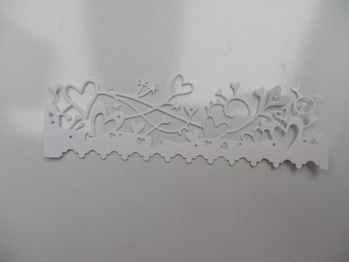 výsek -  ozdobná bordura SRDCE
